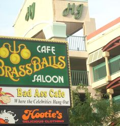 Ocean City MD.  Brass Balls Saloon.  Our favorite place to eat when we're there.