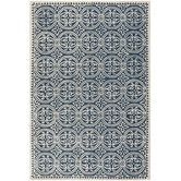 Found it at Wayfair - Cambridge Navy Blue & Ivory Area Rug