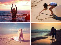 Fotos na praia, inspirações, dicas etc
