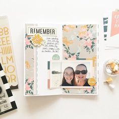 Hi friends! Mandy here with another traveler's notebook spread using beautiful Heidi kit! As soon as I saw this kit, I fell in love with the stunning colour pal