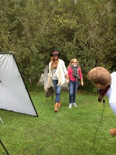 Kelly Bensimon: Shooting for OpenSky in L.L.Bean Bean Boots
