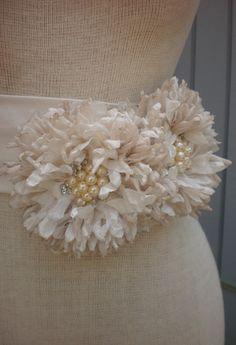 A personal favorite from my Etsy shop https://www.etsy.com/listing/103462641/wedding-sash-wedding-belt-wedding