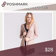 JUST IN Stylish Tan Cardigan. Perfect 4 Fall Cute, open front,  lightweight cardigan. Fashionomics Sweaters Cardigans