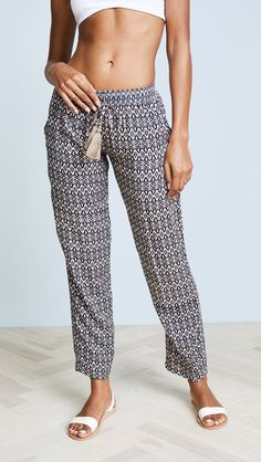 TIARE HAWAII Piper Pants Fashion 101, Fashion Pants, Womens Fashion, Tiare Hawaii, Bow Tie Blouse, Comfy Pants, Comfy Clothes, Floral Pants, Pull On Pants
