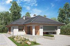 Projekt domu Morgan III 107,05 m2 - koszt budowy - EXTRADOM Atrium, Gazebo, House Plans, Shed, Layout, Outdoor Structures, Studio, Outdoor Decor, Home Decor