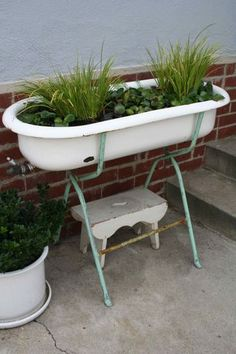 Charming I Have A Baby Bathtub. Itu0027s Not Vintage, But I Know The Perfect Spot To Put  It! Now What To Plant.