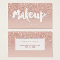 Shop Microblading elegant typography blush rose gold business card created by girly_trend. Personalize it with photos & text or purchase as is! Gold Business Card, Makeup Artist Business Cards, Business Card Design, Nail Logo, Makeup Artist Logo, Hand Lettering Styles, Printable Business Cards, Bussiness Card, Rose Gold Glitter