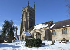 The Church in the snow Colerne