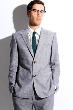 Vanishing Elephant Spur Linen Suit 2