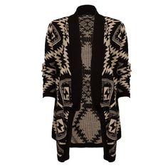 Gilet ouvert, coupe waterfall, imprimé jacquard. Gilet Long, Outfit, Kimono Top, Sweaters, Teen Wolf, Fanfiction, Fire, Women, Amazing