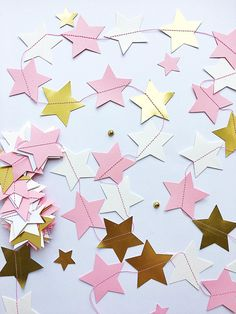 Excited to share the latest addition to my shop: Twinkle Twinkle Little Star Paper Garland Pink Gold Girl Birthday Party Star Decor Baby Shower Cake Smash Backdrop Cheap Bridal Shower Pink And Gold Decorations, Star Decorations, Birthday Decorations, Cheap Baby Shower Decorations, 1st Birthday Girls, Happy Birthday Banners, Unicorn Birthday Parties, Cake Smash Backdrop, Fiesta Theme Party