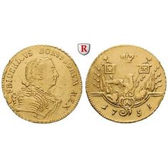 Brandenburg-Preussen, Königreich Preussen, Friedrich II., Friedrichs d`or 1751, ss: Friedrich II. 1740-1786. Friedrichs d`or 1751… #coins