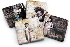 Simply Eartha coasters.  http://www.simplyeartha.com #EarthaKitt #words #simplyeartha #AccessoriesthatSAYsomething