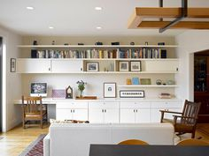 Modern Living Room Wall Units Ideas Storage Inspiration – Decorating Ideas - Home Decor Ideas and Tips Desk Wall Unit, Living Room Wall Units, Living Rooms, Office Built Ins, Built In Desk, Kitchen Office, Home Office Space, Cool Shelves, Open Shelves