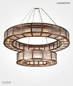 "From the Hammerton Contemporary Collection: CH2249, 60""D x 60""H, shown with custom ribbed glass and Flat Bronze finish"