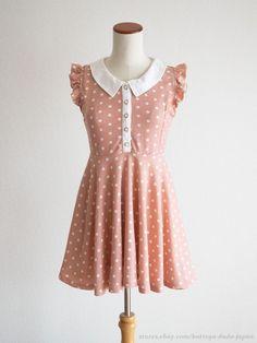 LIZ LISA Shoulder-frill Pink OP Dress Hime Sweet street Lolita Kawaii Japan #LIZLISA #PeplumTunic #Party