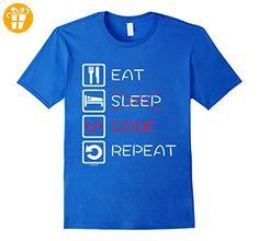 Eat Sleep Code Repeat T-Shirt for Coder Developer Funny Tee Herren, Größe M Königsblau (*Partner-Link)