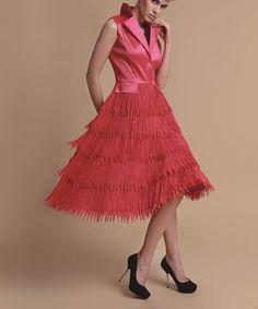 Look at this #zulilyfind! Red Fringe Sleeveless Dress - Women & Plus #zulilyfinds