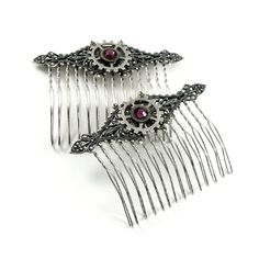 Gear Accent Hair Combs