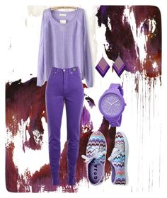 """""""Love of purple"""" by akshprem on Polyvore featuring Versace Jeans Couture, Aéropostale and Rip Curl"""