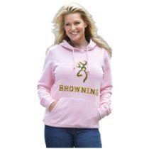 Womens Browning Hooded Sweatshirt