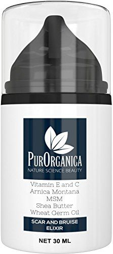 PurOrganica SCAR CREAM  Premium Removal Treatment for Old  New Scars  With Vitamin E and C MSM Shea Butter Arnica Montana and Wheat Germ Oil  Organic and Natural Cream in 30ML bottle >>> Visit the image link more details. #SkinCareforAcne