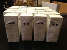 mummy juice boxes   classroom party!