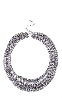 Deb Shops Short Necklace with Multiple Hanging Stones $7.50