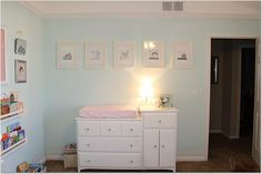 In this light it's a little too saturated, a little too Easter Egg. Needs more gray to fit an adult's study. Pretty color, though. House Color Schemes, House Colors, Aqua Paint Colors, Spearmint Baby, Repose Gray, Up House, Girls Bedroom, Master Bedroom, Bedroom Decor