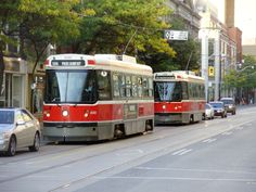 Two CLRV streetcars in Toronto