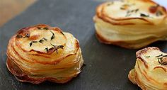 mini, individual potato gratin, made in a muffin tin! Perfect for a next-level romantic side dish for a romantic World Vegetarian Day meal! Just look st these little beauties! #WorldVegetarianDay #romanticvegetarian