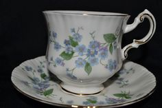 Paragon Forget-Me-Not Teacup and Saucer Set. by TheTeacupAttic