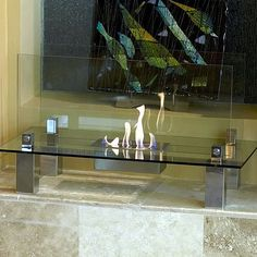 Not just an accent piece the Fiero is a focal point. Shimmering, thick tempered glass makes this fireplace special as the flames appear to float in space. The Fiero's long burning fire is enjoyable from every perspective and with its glass construction takes up virtually no visual space in your room. Easily adjust the flame height or extinguish it completely with the provided dampener tool. Perfect for any room of your home or office. For indoor use only.Fuel not included, we recommend…