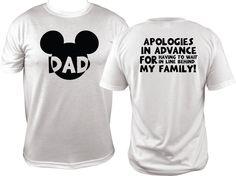 Dad Disney Family Shirts Disney Land Disney World Family Vacation Matching Funny Tshirt Shirt Men