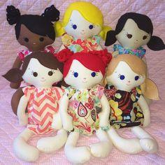 Muñeca de trapo personalizadas elegir por justplainbeckyw en Etsy