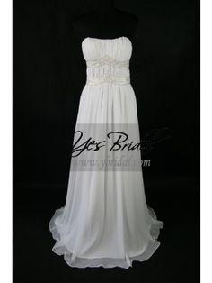 Sheath Strapless Floor-length Chiffon Prom Evening Dress SSC0084