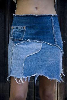 Resultado de imagem para biju feito com retalho de   jeans