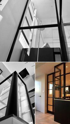 #black #blackmetal #blackened #steel #steelfurniture #railing #interiordesignideas #interior #glassdoor #design #designideas #rivets #architecture #architect #interiordesignlivingroom #partition #partitionwall