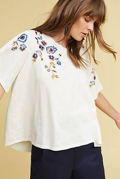 e1ef407d16e73 Fluttered Thistle Tee Anthropologie