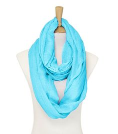 Madison Infinity Scarf in Greek Turquoise.