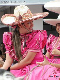 Escaramuzas from the state of Jalisco. Girl from Los Altos de Jalisco.