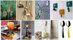Originales proyectos decorativos con unas cuantas cucharas y tenedores ¿Te animas? #recicla #reutiliza #decoración #hogar #DIY