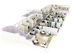 Office Space Planning The Office Design is a crucial part of the search for the appropriate size office space. Also each building has different types of office space configuration which can add up to. Office Space Planning, Office Plan, Office Space Design, Workplace Design, Office Spaces, Office Relocation, Office Moving, Commercial Architecture, Blue Rooms