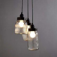 Glass Jar 3 Light Cluster | Dunelm