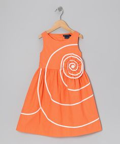 Take a look at this Orange Deryn Dress - Toddler & Girls by Periwinkle on #zulily today!
