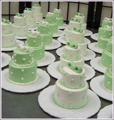 Mini bolos casamento
