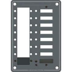 Blue Sea 8087 8 Position DC C-Series Panel - Blank - https://www.boatpartsforless.com/shop/blue-sea-8087-8-position-dc-c-series-panel-blank/