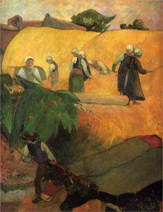 'Haymaking', 1889 - Gauguin
