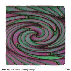 Green and Pink Swirl Trivet Trivets