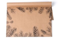 Pinecones on Kraft Paper Placemat Pad - perfect placemat to use while entertaining during those cold months!  Designed and printed in the USA.